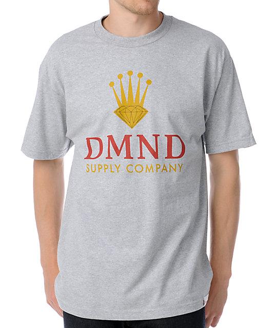 Diamond Supply Co DMND Crown Heather Grey T-Shirt