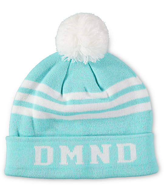 Diamond Supply Co DMND Diamond Blue & White Pom Cuff Beanie