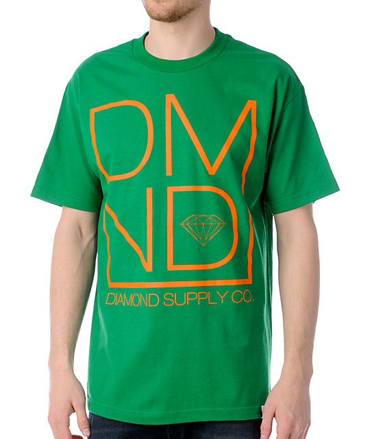 Diamond Supply Co DMND Green T-Shirt