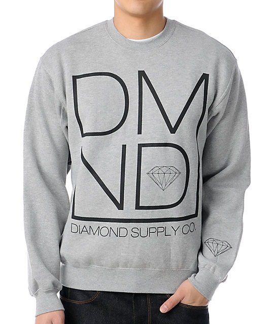 Diamond Supply Co DMND Grey Crew Neck Sweatshirt