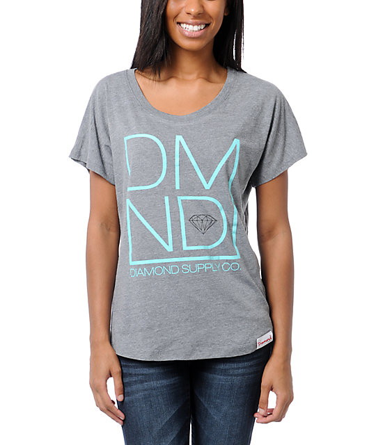 Diamond Supply Co DMND Grey T-Shirt