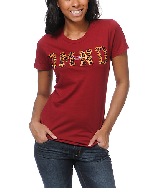 Diamond Supply Co DMND Leopard Red T-Shirt