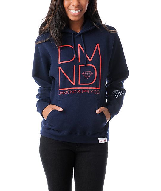 Diamond Supply Co DMND Navy Blue Pullover Hoodie