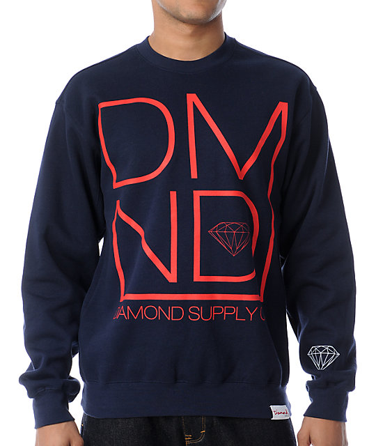 Diamond Supply Co DMND Navy Crew Neck Sweatshirt
