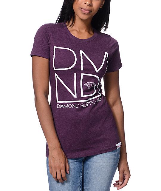 Diamond Supply Co Dmnd Plum Boyfriend Fit T Shirt