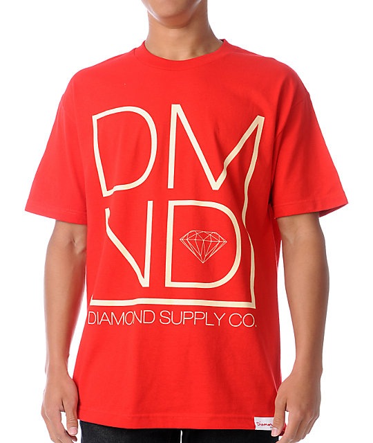 Diamond Supply Co DMND Red T-Shirt