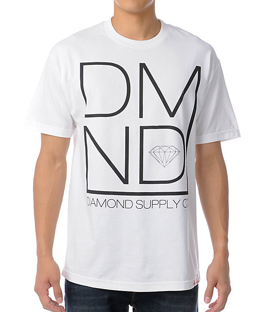 Diamond Supply Co DMND White & Black T-Shirt