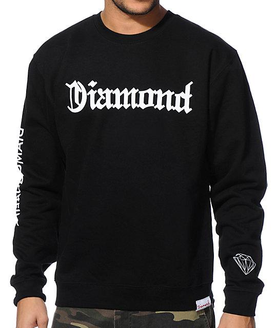 Diamond Supply Co DMND4Life Black Crew Neck Sweatshirt