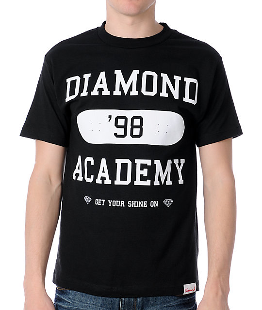 Diamond Supply Co Diamond Academy Black T-Shirt