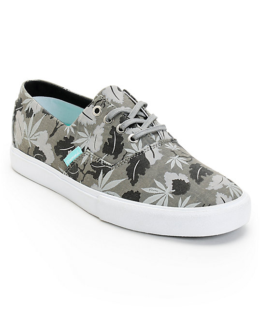 Diamond Supply Co Diamond Cuts Black Weed Canvas Shoes
