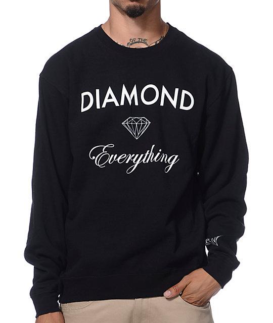 Diamond Supply Co Diamond Everything Black Crew Neck ... - photo#7