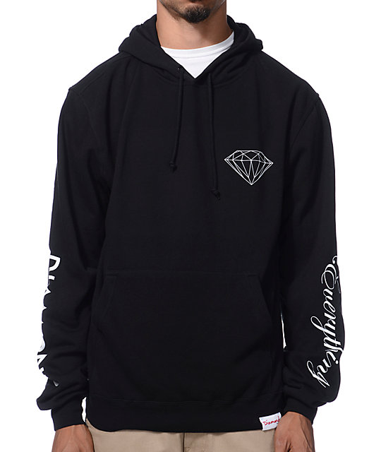 Diamond Supply Co Diamond Everything Black Pullover Hoodie