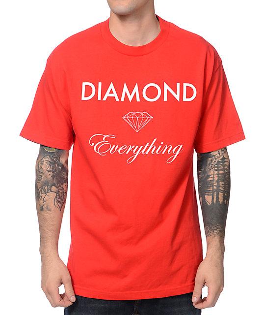 Diamond Supply Co Diamond Everything Red T-Shirt