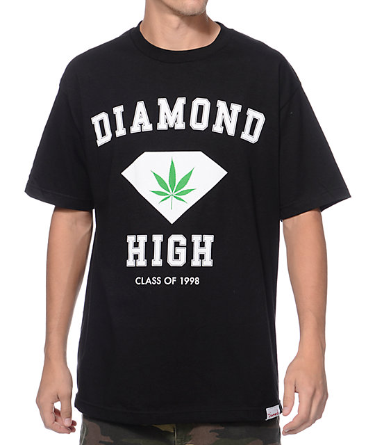 Diamond Supply Co Diamond High Black T-Shirt