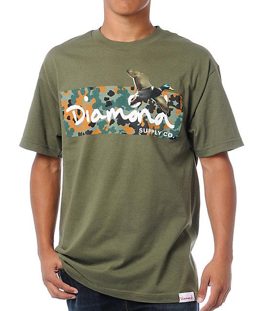 Diamond Supply Co Diamond Hunters Army Green T-Shirt