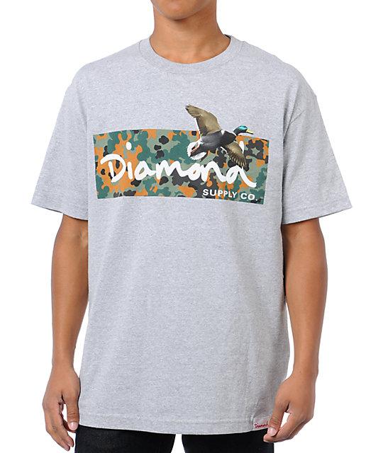 Diamond Supply Co Diamond Hunters Grey T-Shirt