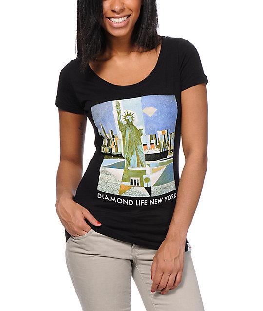 Diamond Supply Co Diamond Life NY Black T-Shirt