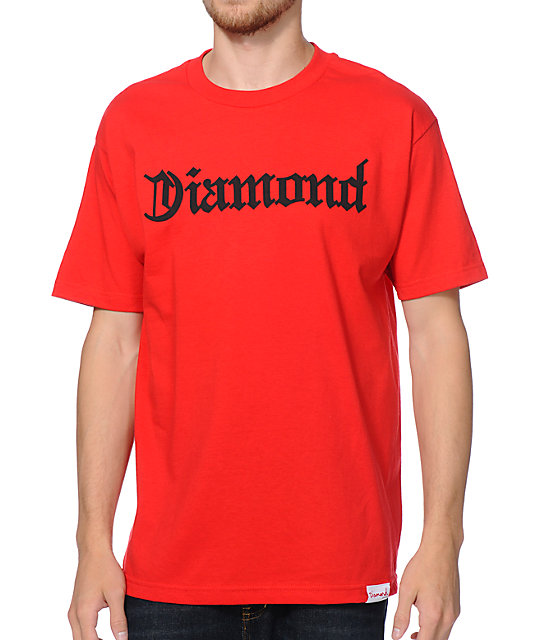 Diamond Supply Co Diamond4Life Red T-Shirt