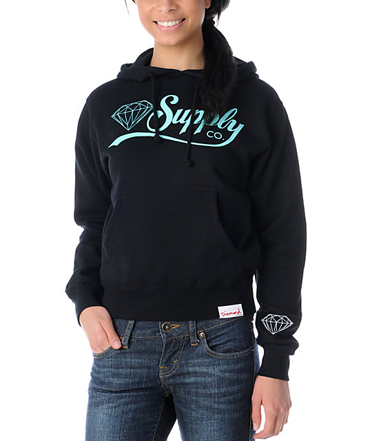Diamond Supply Co Diamondaire Black Pullover Hoodie