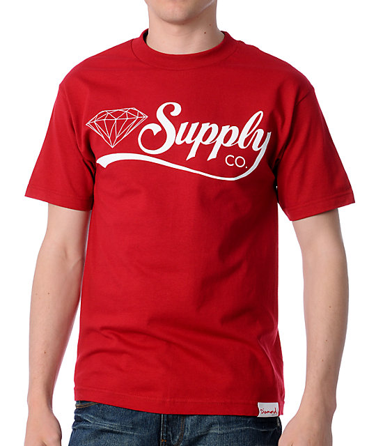 Diamond Supply Co Diamondaire Red T-Shirt