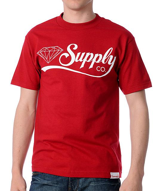 Diamond supply co diamondaire red t shirt for Wholesale diamond supply co shirts