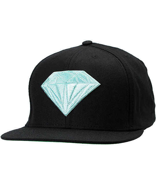 Diamond Supply Co Emblem Black & Blue Snapback Hat