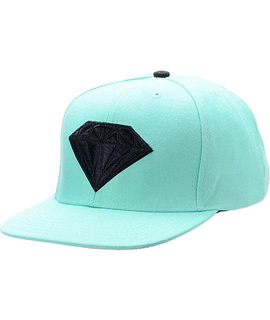 Diamond Supply Co Emblem Teal & Black Snapback Hat