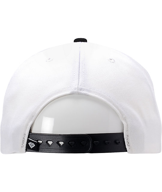 Diamond Supply Co Emblem White & Teal Snapback Hat