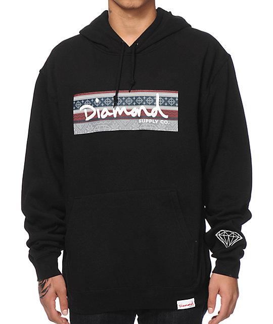 Diamond Supply Co Fairisle Box Logo Hoodie