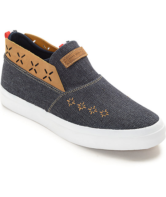 Diamond Supply Co Folk Denim Slip-On Shoes