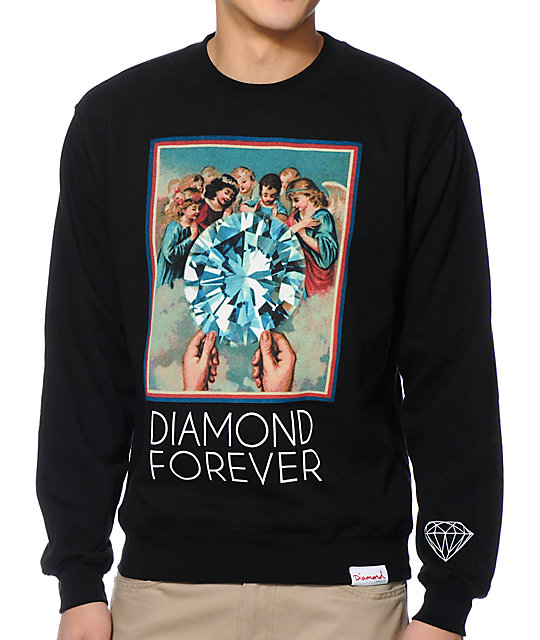 Diamond Supply Co Forever Black Crew Neck Sweatshirt
