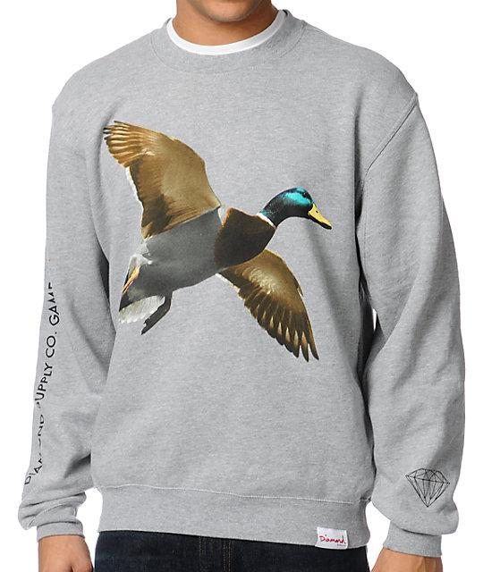 Diamond Supply Co Game Association Pt. 2 Grey Crew Neck Sweatshirt