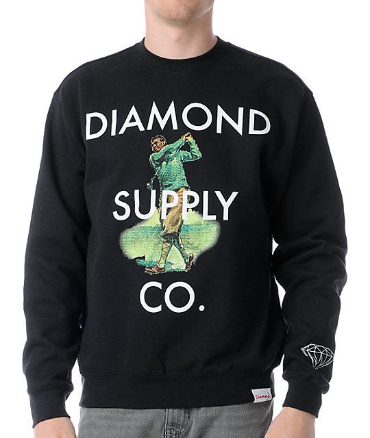Diamond Supply Co Golf Black Crew Neck Sweatshirt