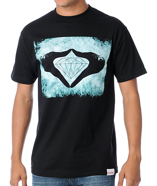 Diamond Supply Co Hands Black & Dark Blue T-Shirt