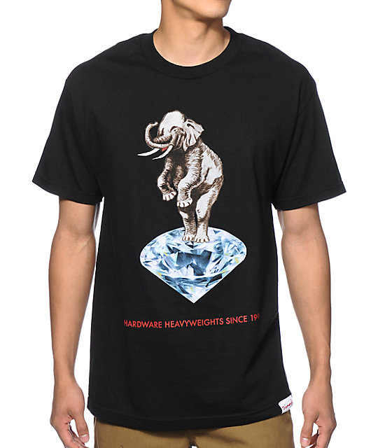 Diamond supply co hardware heavyweights t shirt for Wholesale diamond supply co shirts