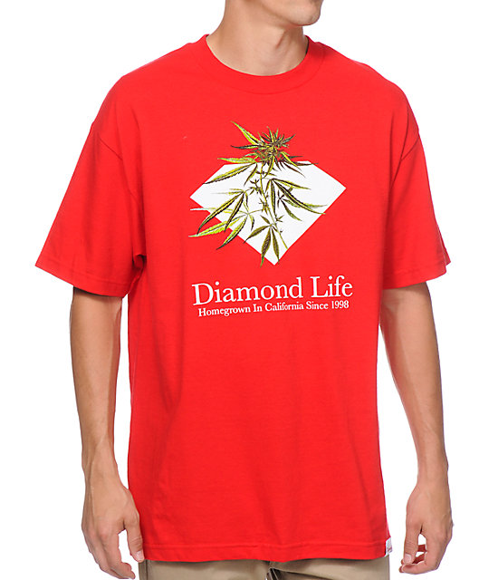 Diamond Supply Co Homegrown Red T-Shirt