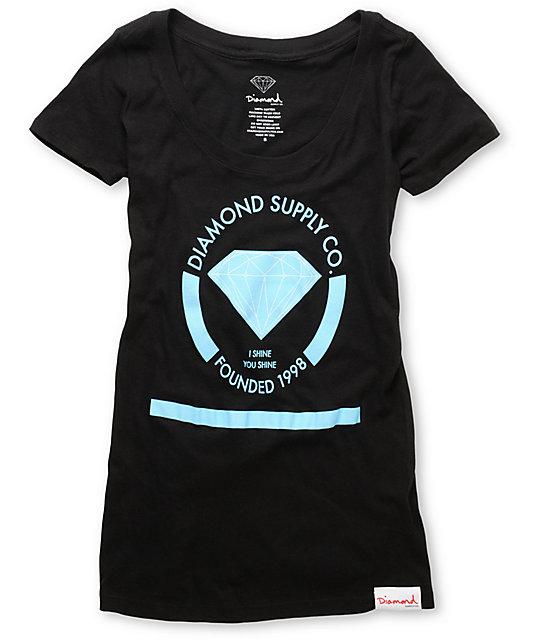 Diamond Supply Co I Shine You Shine Black T-Shirt