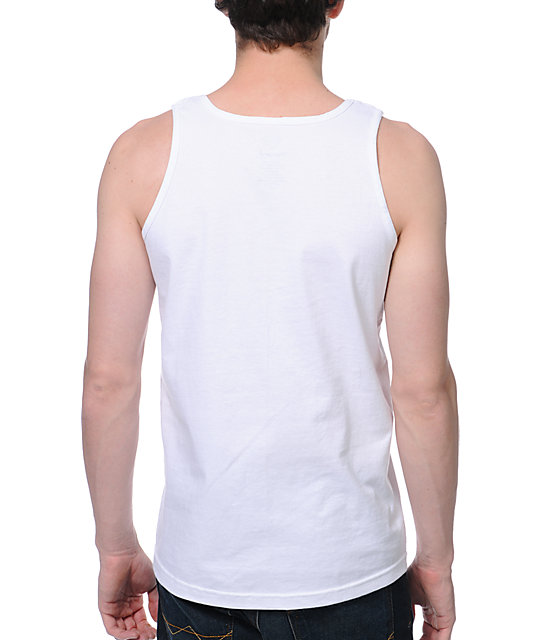 Diamond Supply Co Imprint White Tank Top