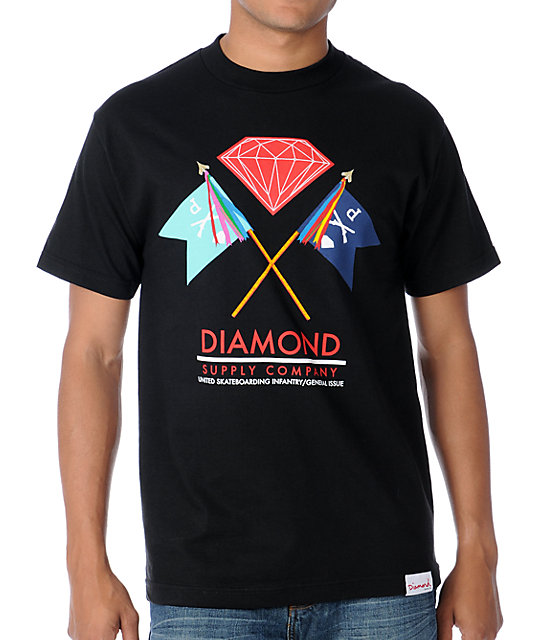 Diamond Supply Co Infantry Black T-Shirt