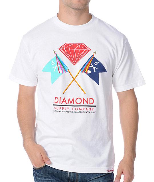 Diamond Supply Co Infantry White T-Shirt