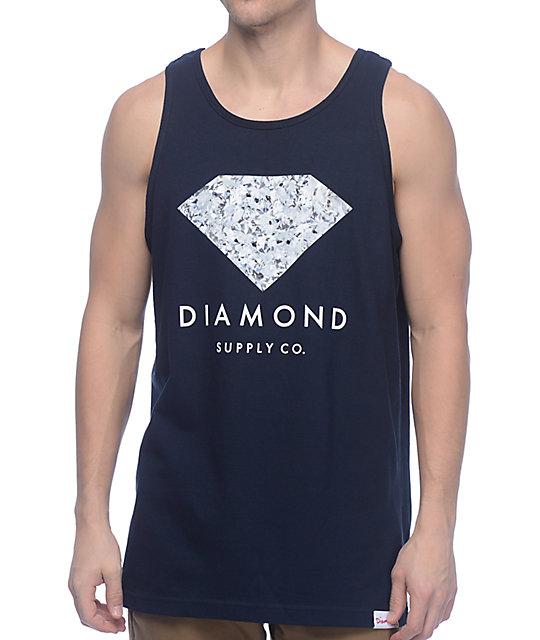 Diamond Supply Co Infinite Navy Tank Top