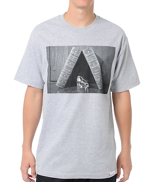 Diamond Supply Co Life and Times Grey T-Shirt