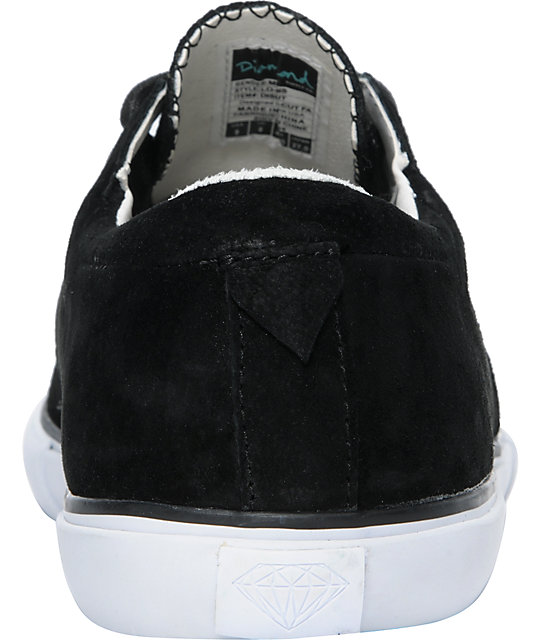 Diamond Supply Co Lo Cut Black Suede Shoes