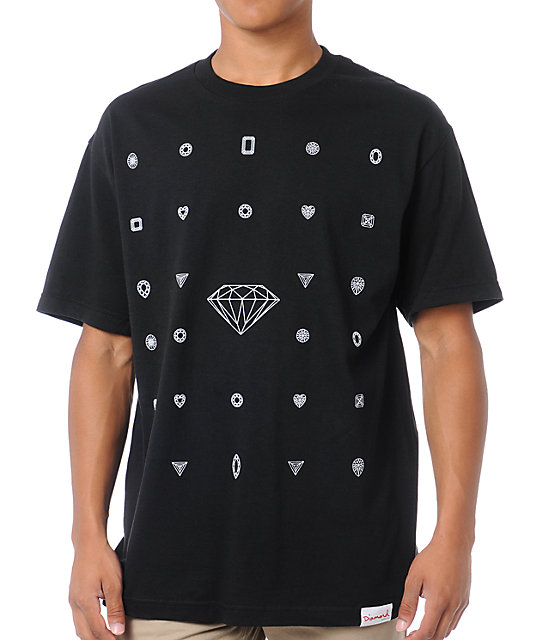 Diamond Supply Co Many Diamonds Black & White T-Shirt
