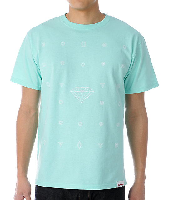 Diamond Supply Co Many Diamonds Mint T-Shirt