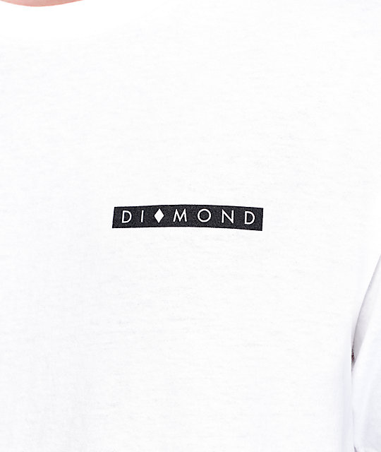 Diamond Supply Co Marquise White T-Shirt
