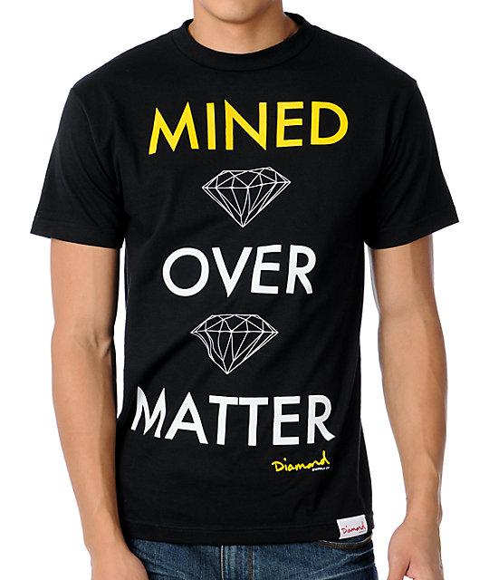 Diamond Supply Co Mind Over Matter Black & Yellow T-Shirt