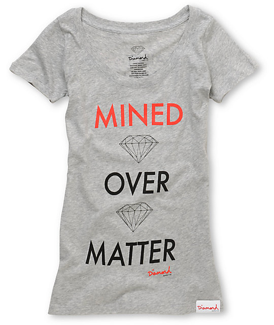 Diamond Supply Co Mined Over Matter Grey T-Shirt