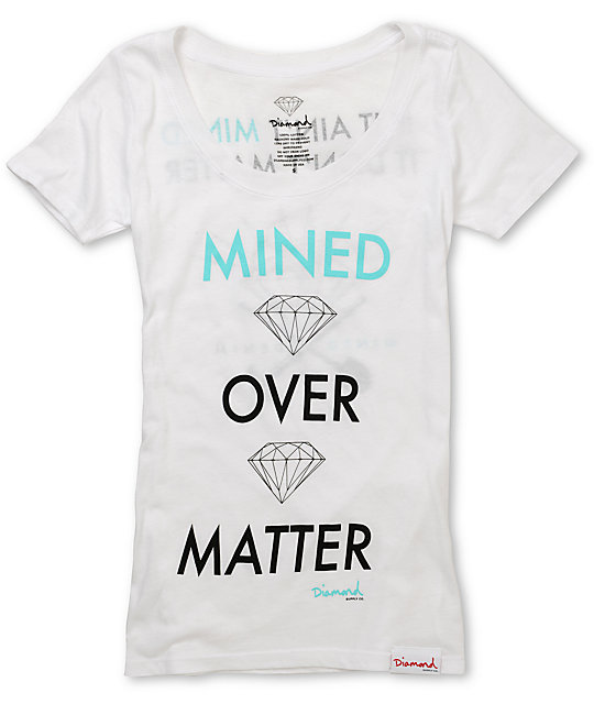 Diamond Supply Co Mined Over Matter White T-Shirt