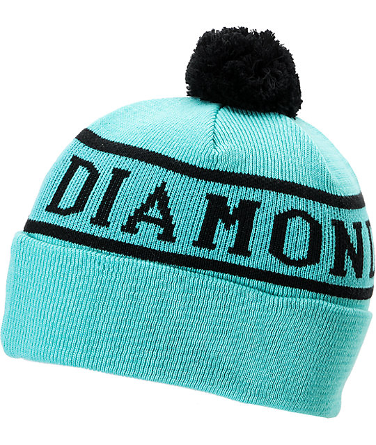 Diamond Supply Co Mint Snow Pom Beanie